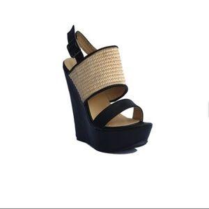 NWOT: DbDk Slingback Wedge Black heels